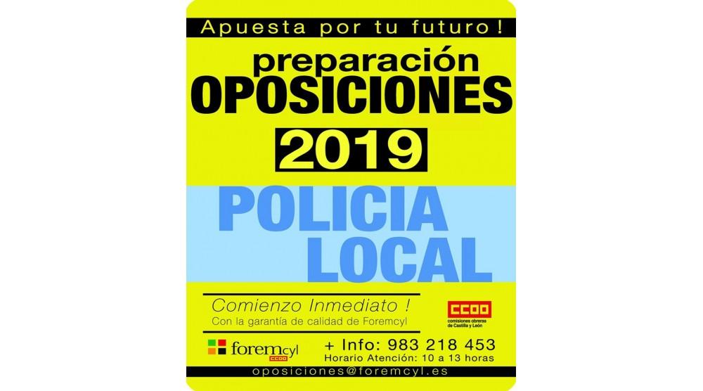 Preparación oposiciones Policía Local - Comienzo inmediato
