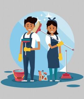 Limpieza de superficies y mobiliario en edificios y locales