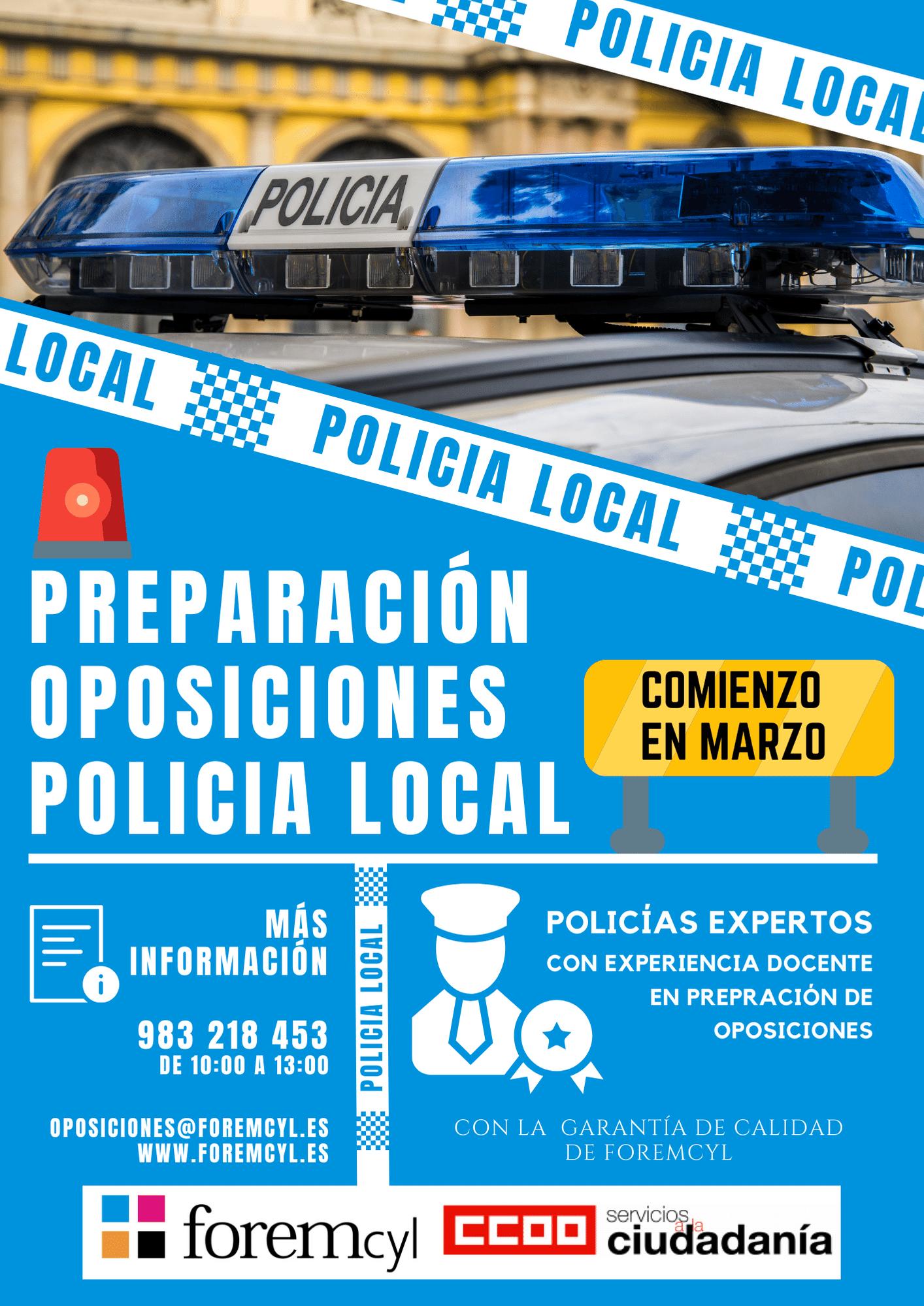 Preparacion oposiciones policia local