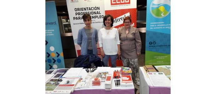 Foremcyl y CCOOCyL de Segovia en la Feria de Empleo TANDEM 2019