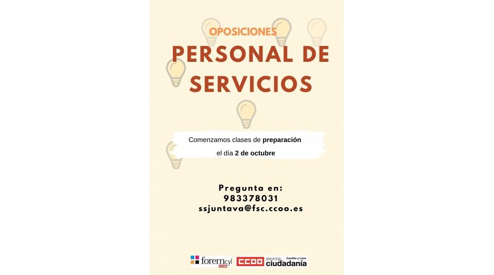 FINALIZADO - Preparación Oposiciones Personal de Servicios 1º Edicion